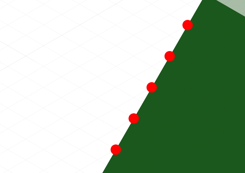 Grid intersection points