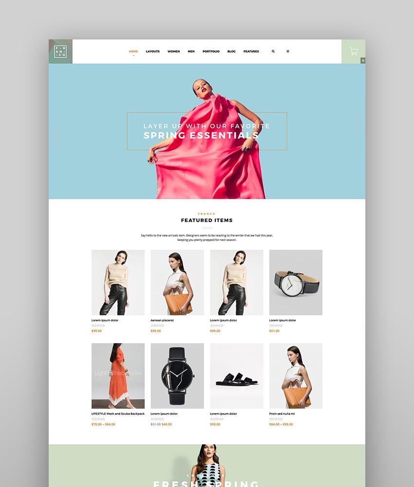 Franco - Elegant WooCommerce Theme