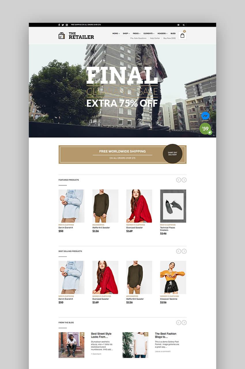 The Retailer - Easy to Use WordPress Theme