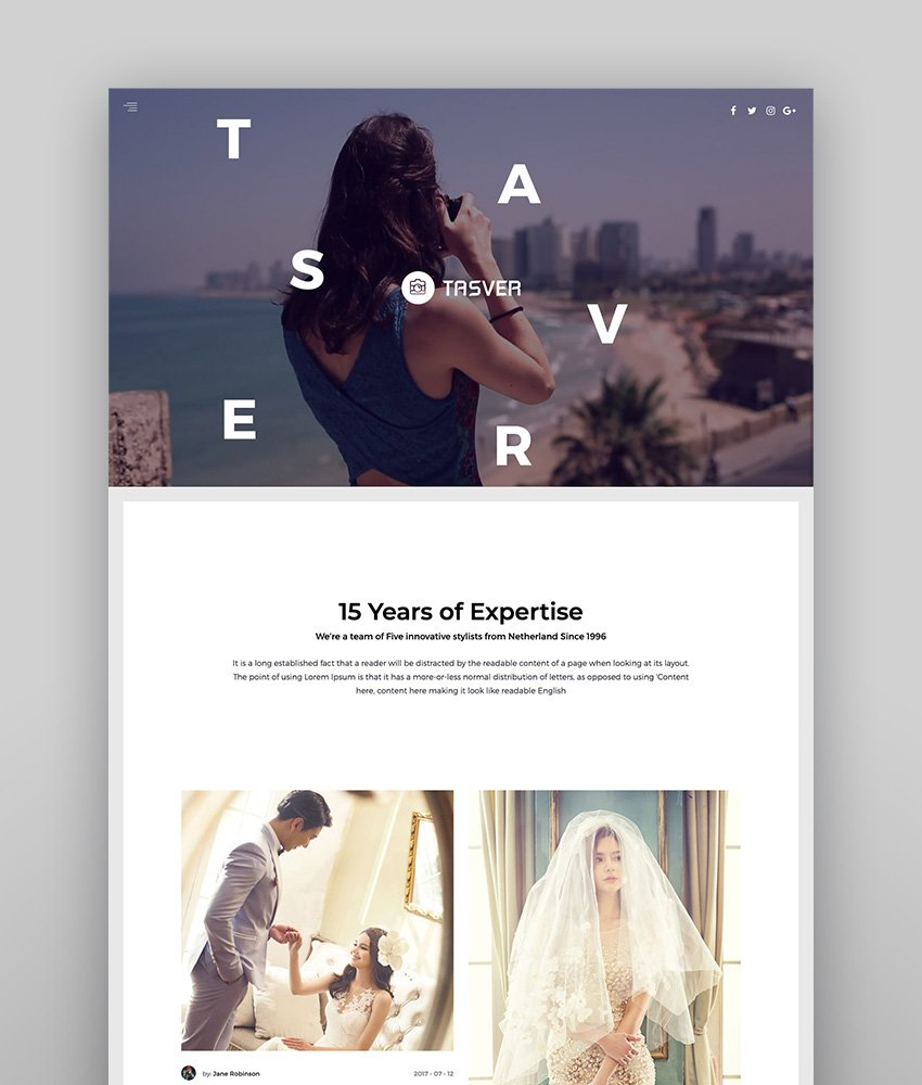 Tasver Photography - Full-Screen Photography Theme