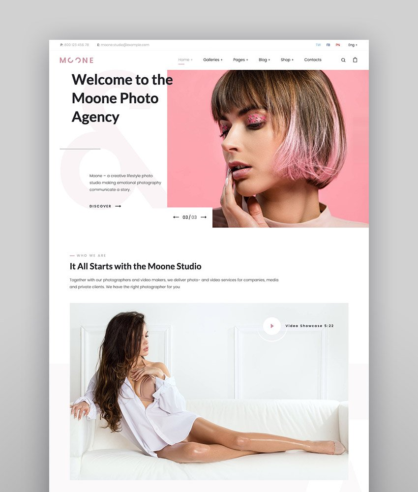 Photography Portfolio Elementor WordPress Theme - Moone