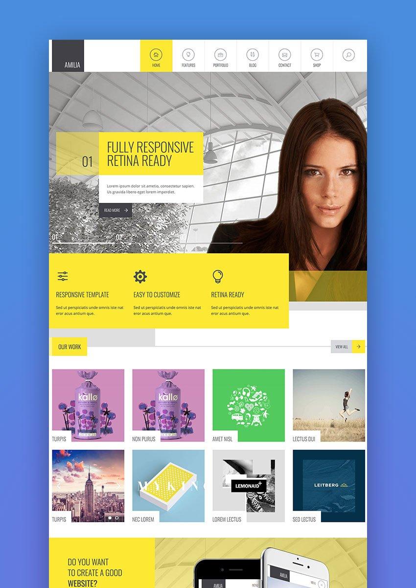 Amilia - Multipurpose One Multi Page WP Theme