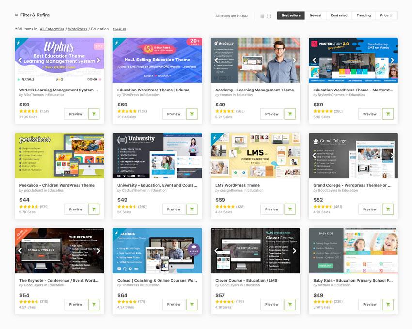 education wordpress themes for creating school websites