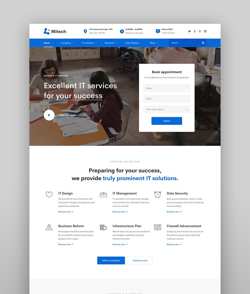 IT Solutions Mitech - Technology IT Solutions  Services WordPress Theme