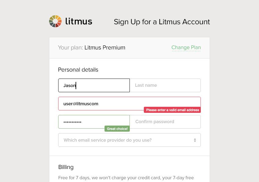 Litmus form validation by Adnan Khan
