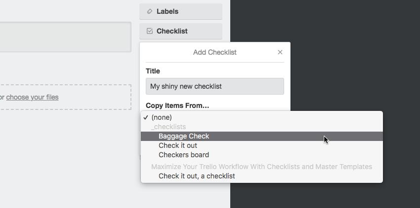 Trello checklist card