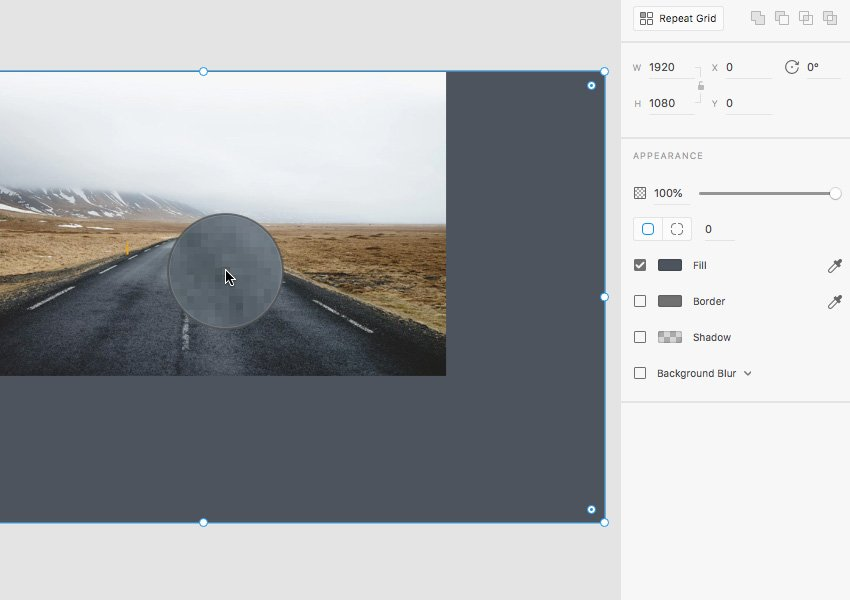 picking colors from an image in Adobe XD