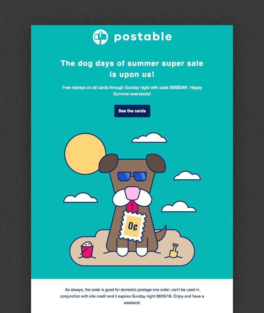 Postable email design