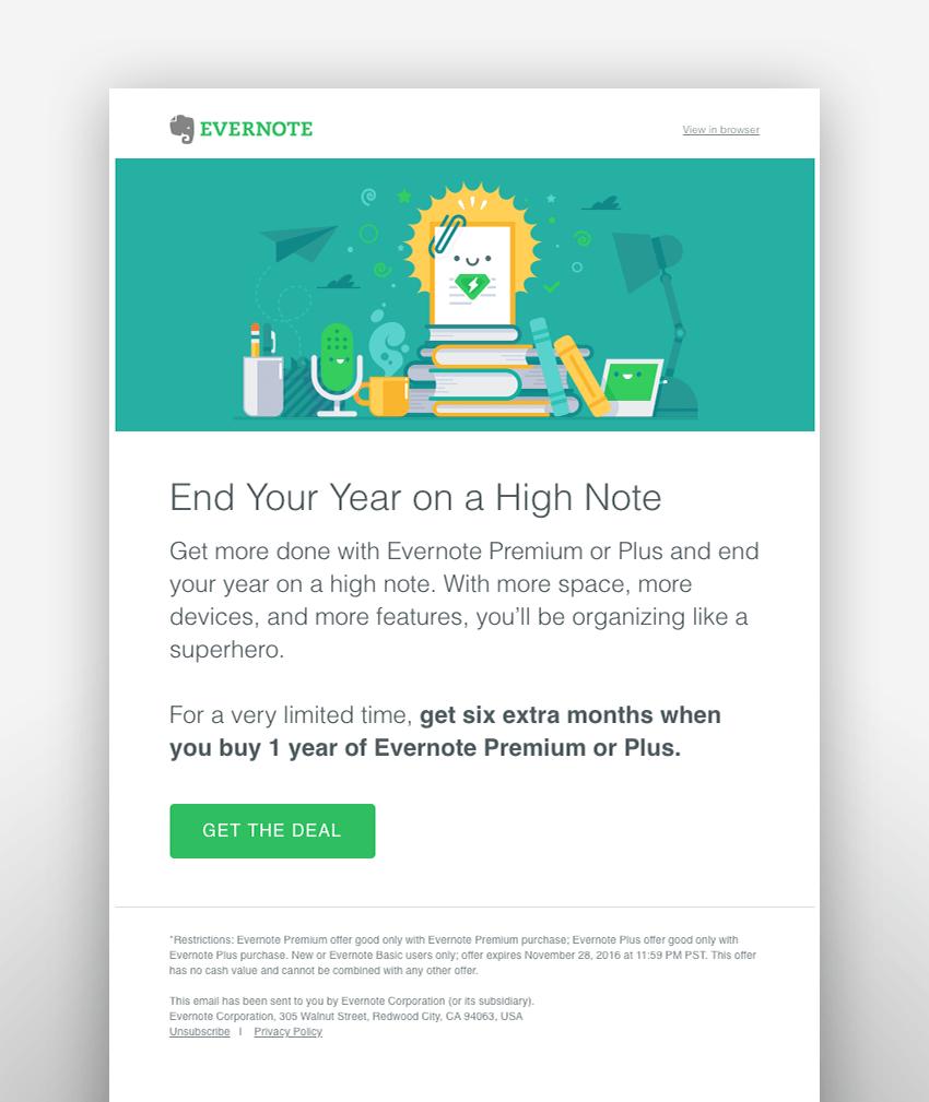 evernote email design