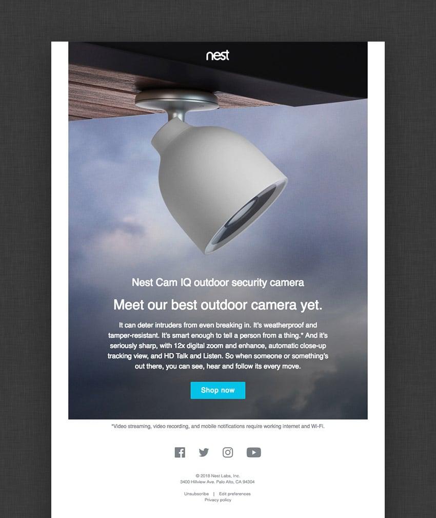 email design for Nest
