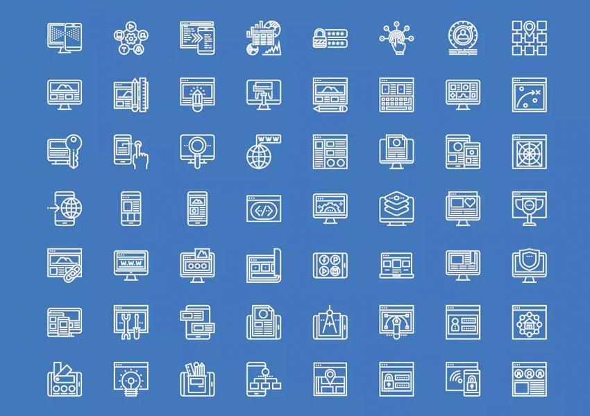 Development Line Icons