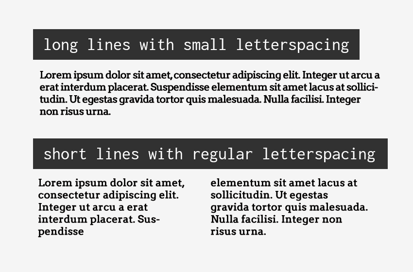 Paragraph spacing examples