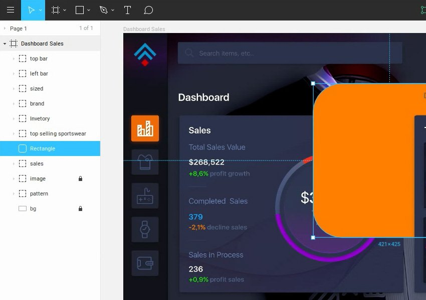 Move Layers Up and Down in Figma