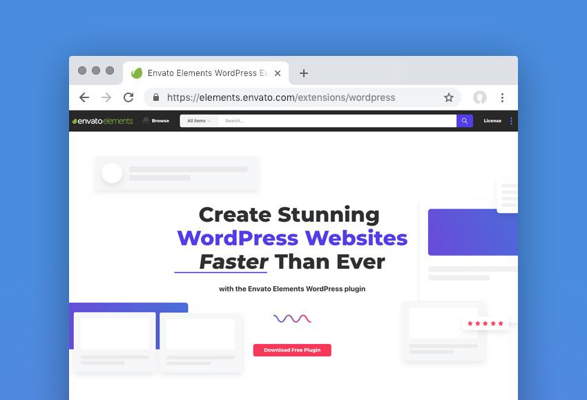 the new Envato Elements WordPress plugin