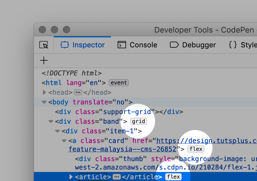 firefox developer tools grid inspector