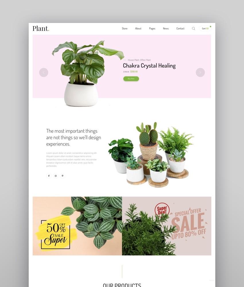 Plant - Gardening  Houseplants Shopify Theme