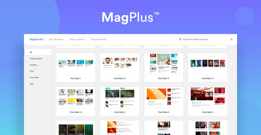 The MagPlus Theme Element Library by Theme Bubble
