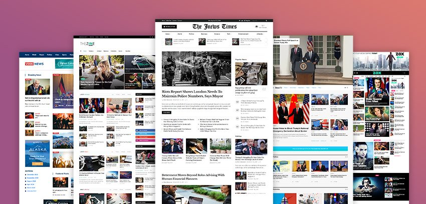 Newspaper theme design