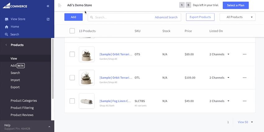 Adding Products on the BigCommerce Platform