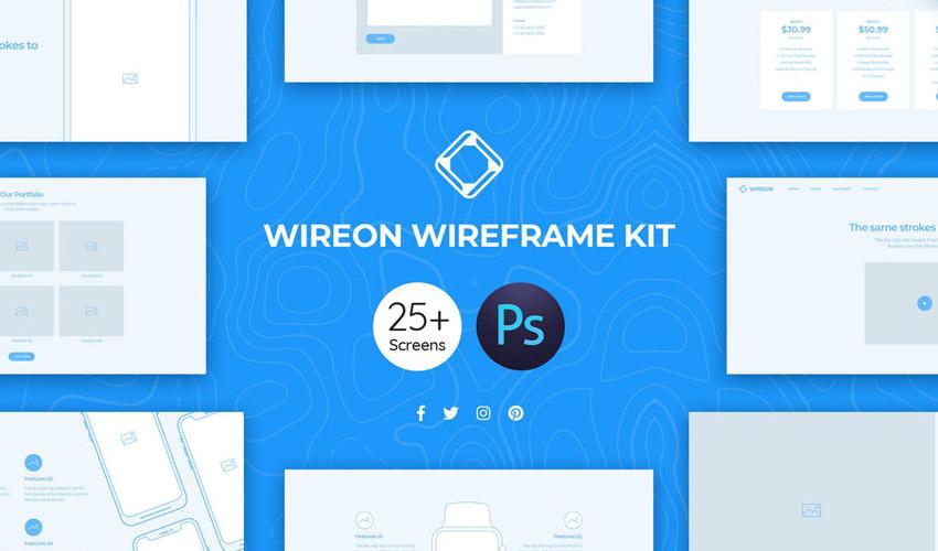 Wireon Web Wireframe Kit