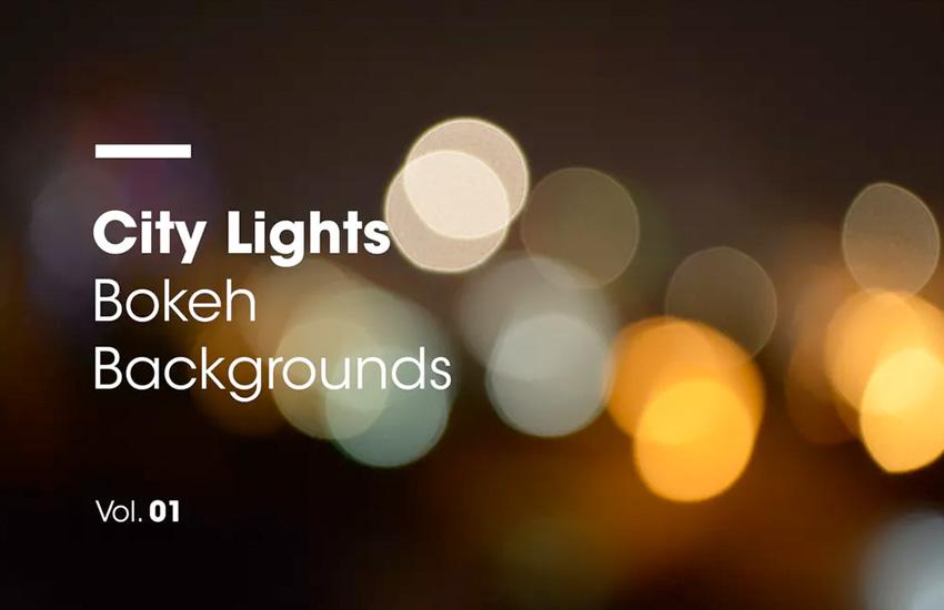 City Lights  Bokeh Backgrounds  Vol 01
