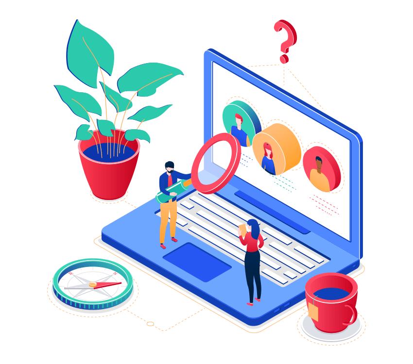 HR management - colorful isometric illustration