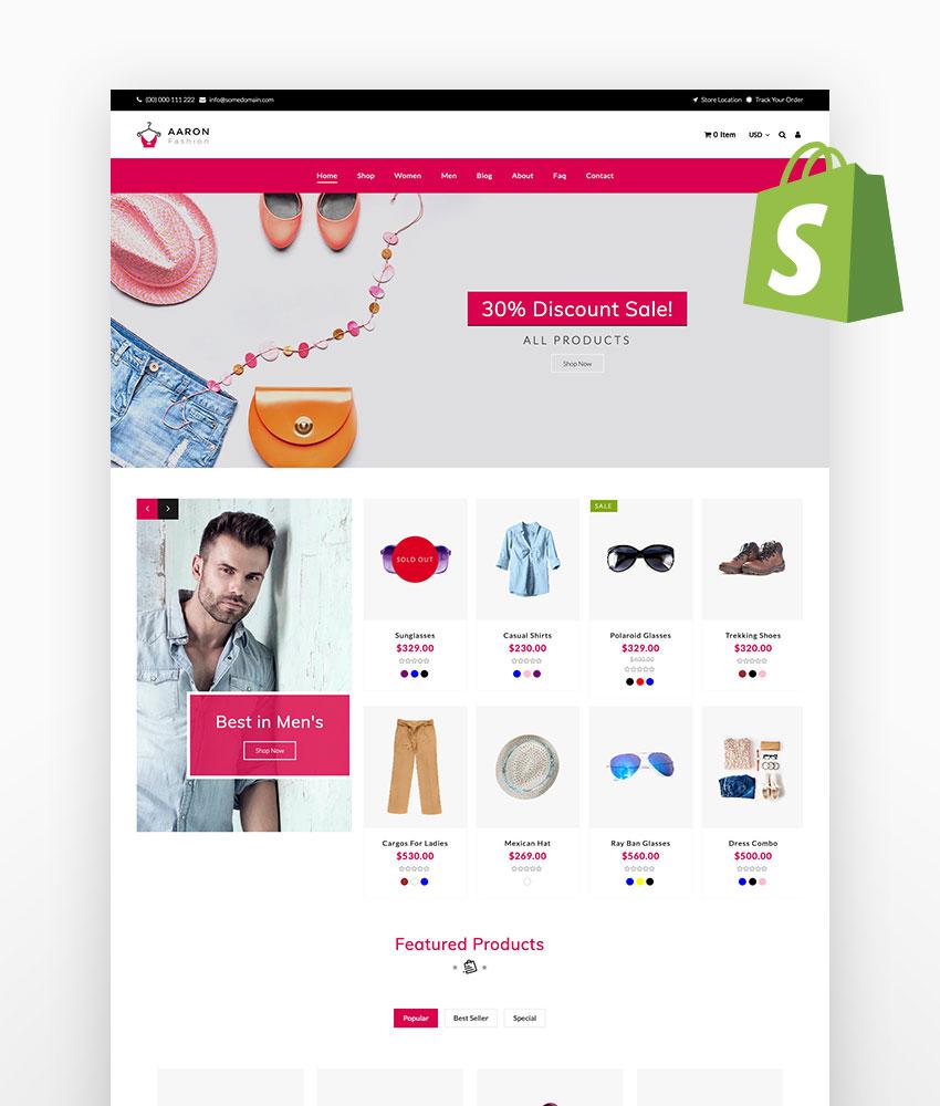 Aaron Fashion Shopify Theme
