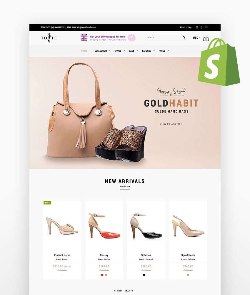 Tote - Shoes and Bags Shopify Theme
