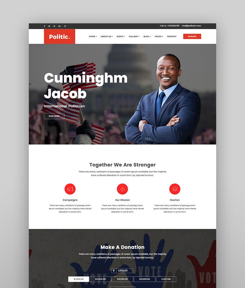Politic Political WordPress Theme