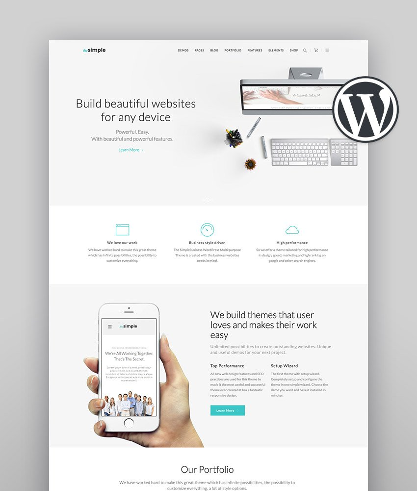 Simple WordPress Theme The Simple - A Simple Multi-Purpose Business Theme