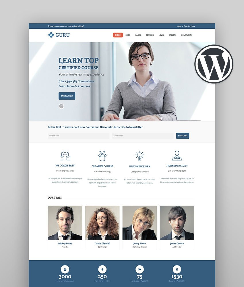 Guru  LMS Sensei WordPress