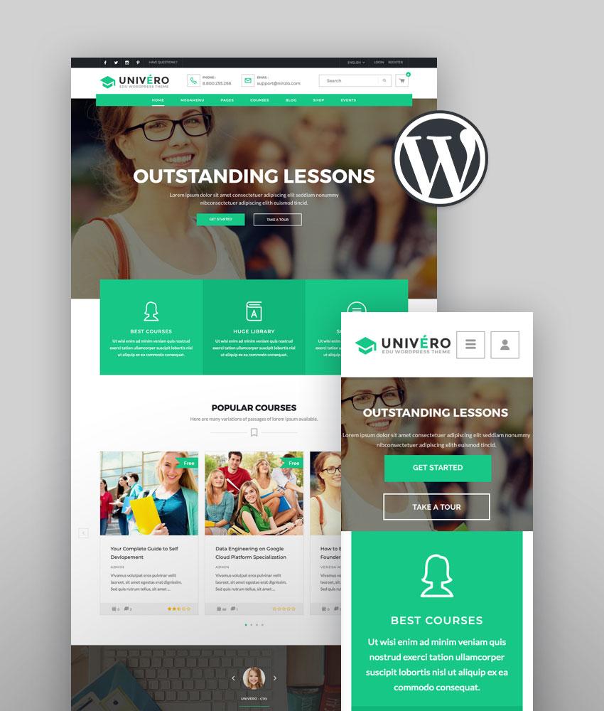 Univero  Education LMS  Courses WordPress Theme