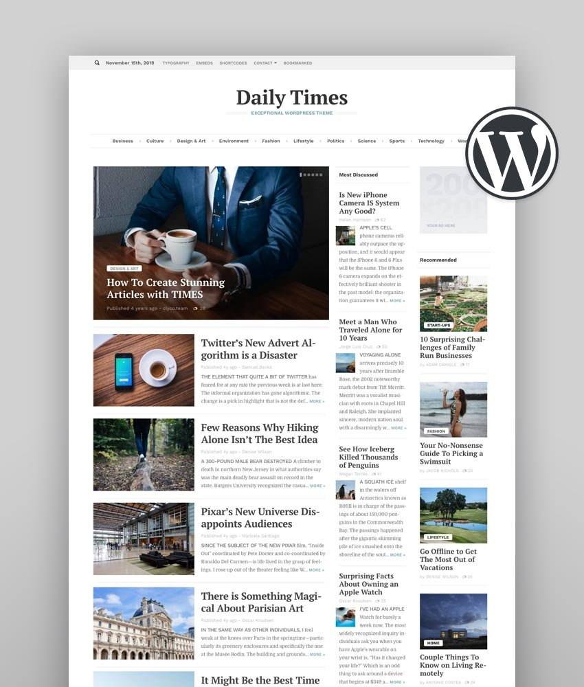 The News Time Magazine WordPress Theme