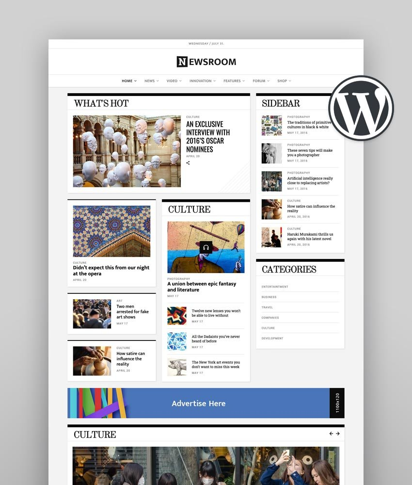 Newsroom Best Newspaper WordPress Theme