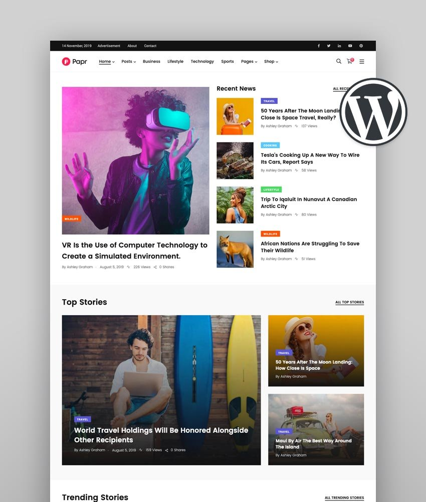 Papr  News Magazine WordPress Theme