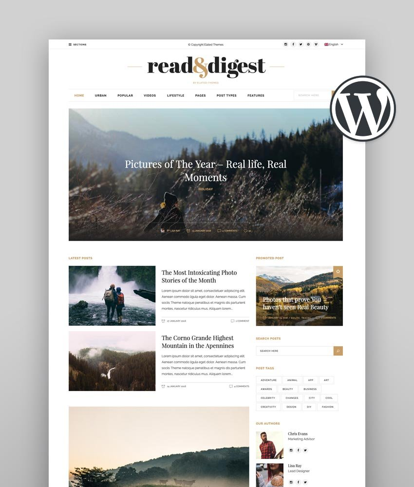 Read and Digest - Best News Theme WordPress