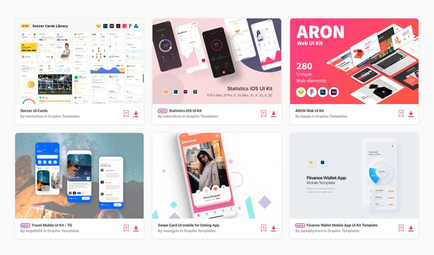 UI kits on Envato Elements