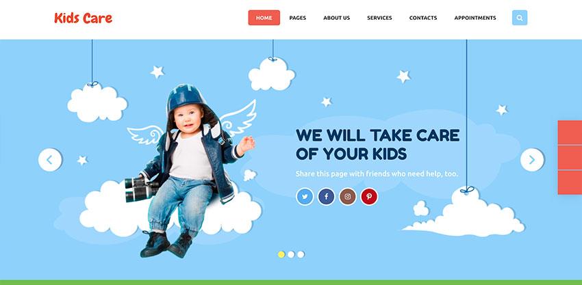Kids Care  A Multi-Purpose Children WordPress Theme