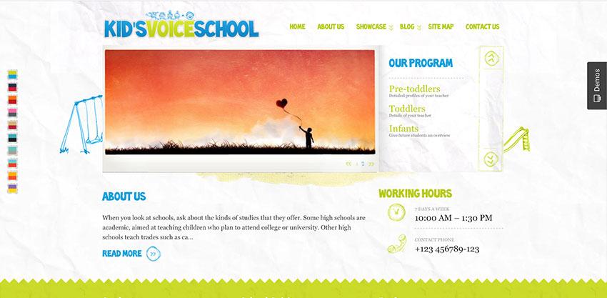 Kids Voice School - Education WordPress Theme