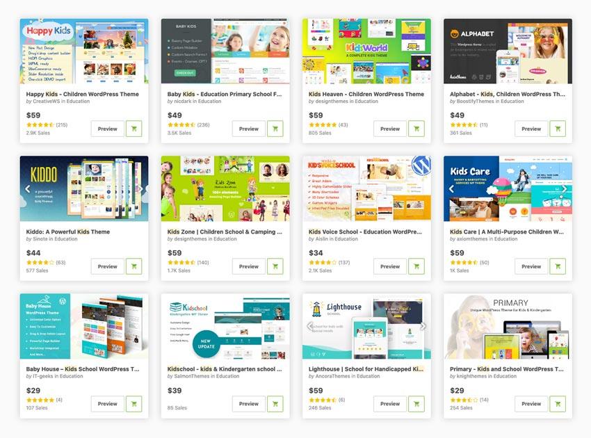 Best Kindergarten  Preschool WordPress Themes on Themeforest