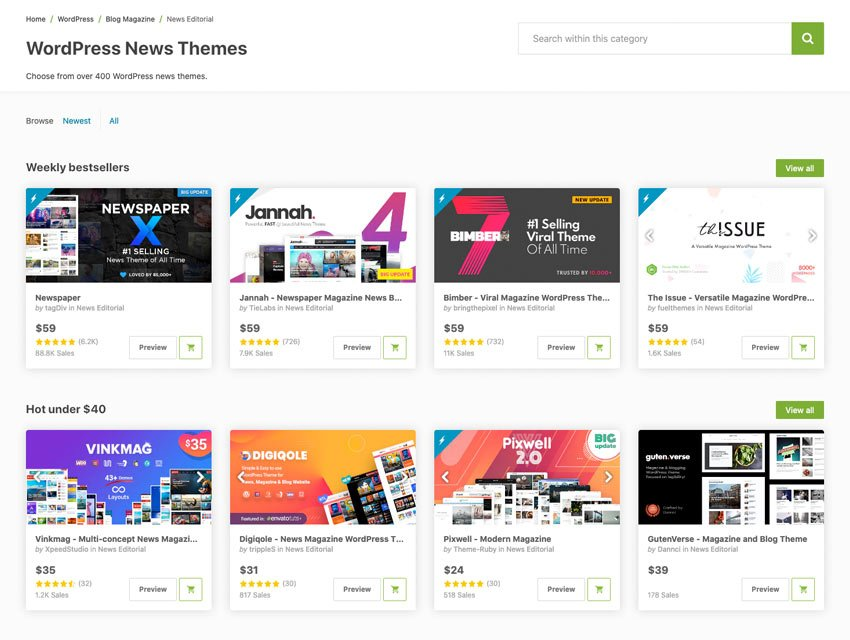 Premium Media and News WordPress Themes
