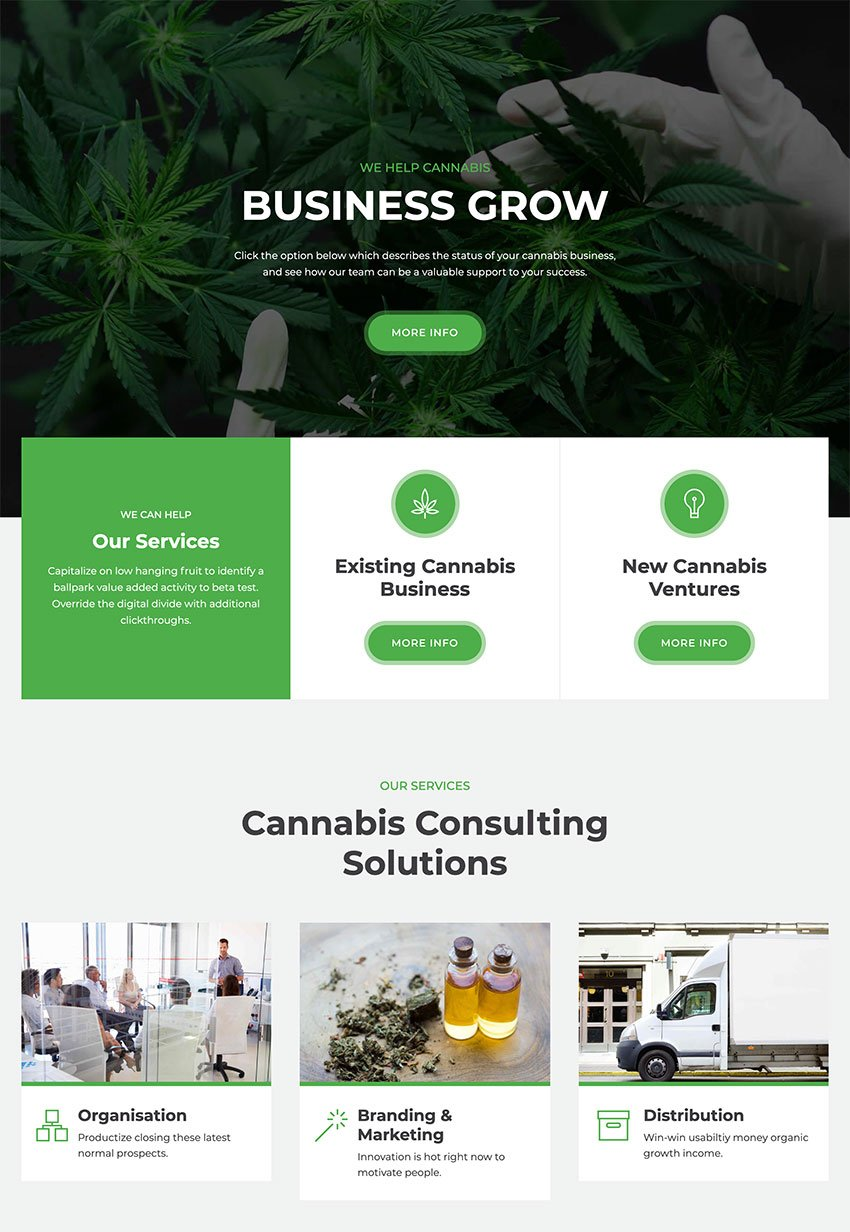 MediGreen - Medical Marijuana  Dispensary WordPress Theme