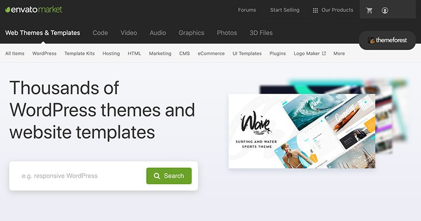 Choose From Thousands of WordPress Themes on Themeforest