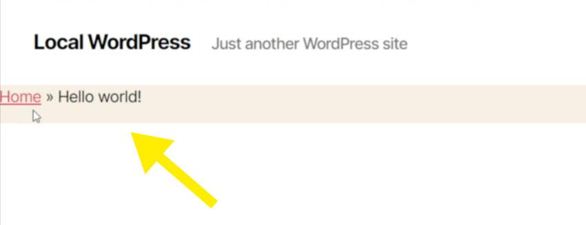 Insert the Breadcrumbs into WordPress