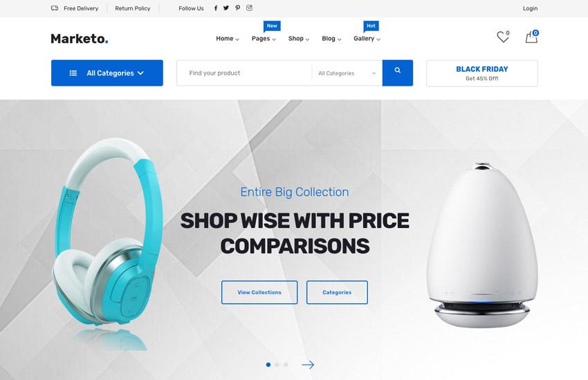Marketo - eCommerce  Multivendor Marketplace Woocommerce WordPress Theme