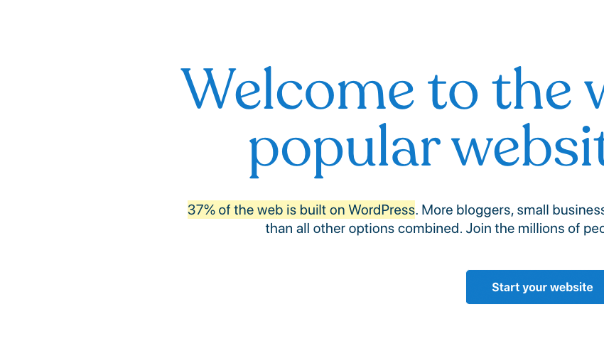 37 of the web is built on WordPress