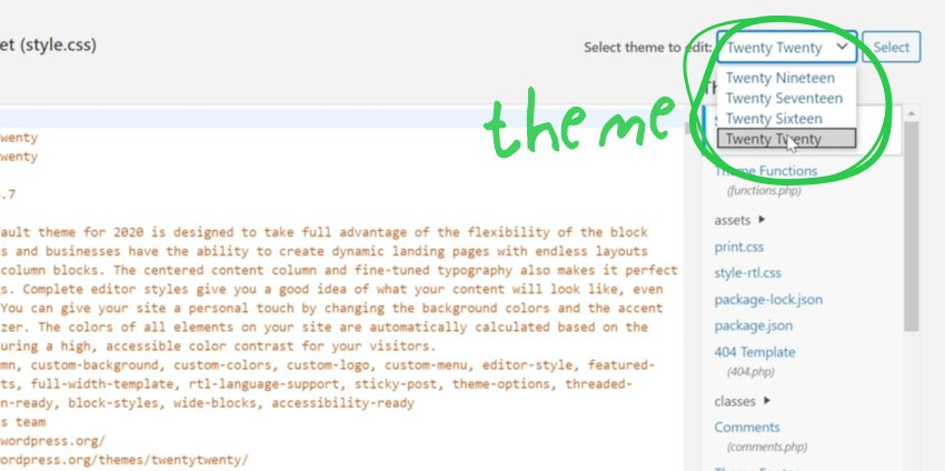 Edit the headerphp File Via WordPress