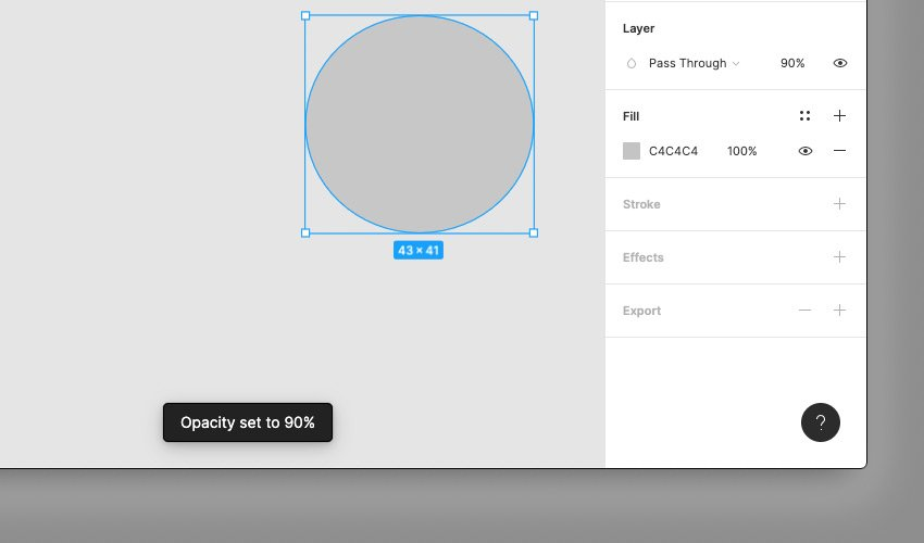 Setting Opacity on an Element