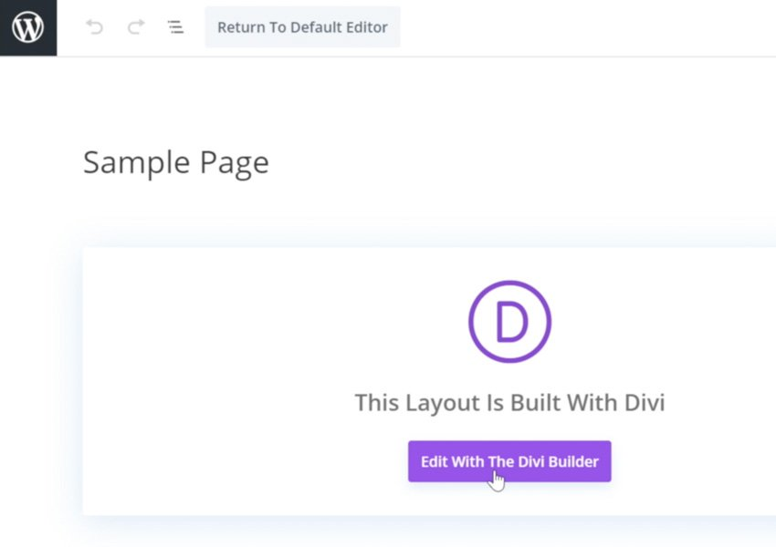 edit page in Divi