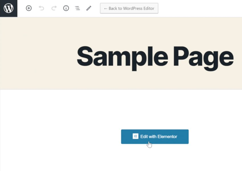 edit the page with Elementor